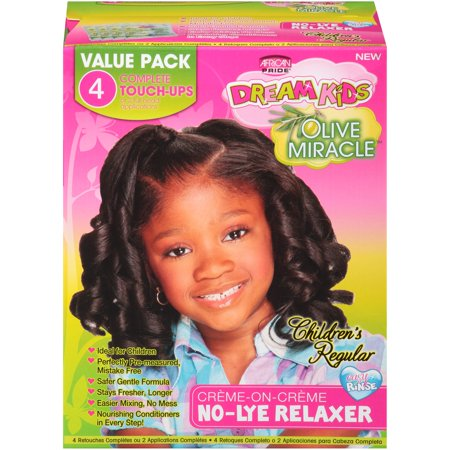 African Pride® Dream Kids® Olive Miracle™ Children's Regular No-Lye Relaxer Kit Box (African Pride Relaxer Kit)
