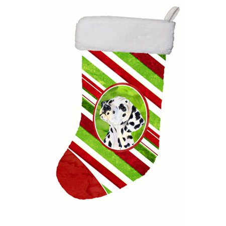 Carolines Treasures SS4561-CS 11 x 18 in. Dalmatian Winter Snowflakes Christmas Stocking - image 1 of 1