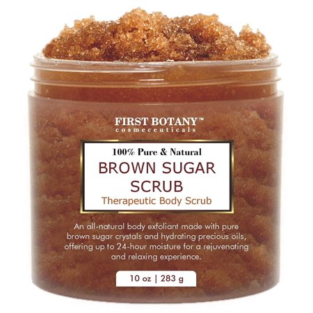 Brown Sugar Natural Body Scrub - 100% Natural Best for Acne, Cellulite Cream/Scrub and Stretch Mark treatment, Moisturizer, Face Scrub 10