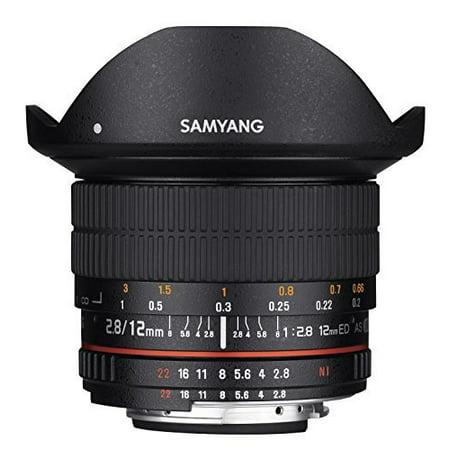 Samyang 12mm F2.8 Ultra Wide Fisheye Lens for Canon EOS EF DSLR Cameras - Full Frame (Best Entry Level Full Frame Dslr)