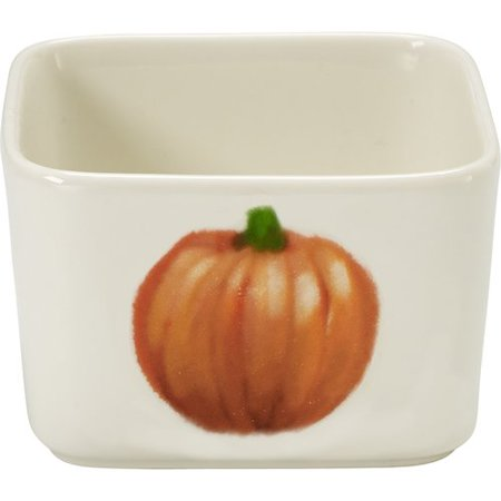 Pumpkin Bow (Celebrations by Precious Moments 171520 7 oz Fall Harvest Pumpkin Porcelain Appetizer Dip Serving Bowl 2.25-inches)