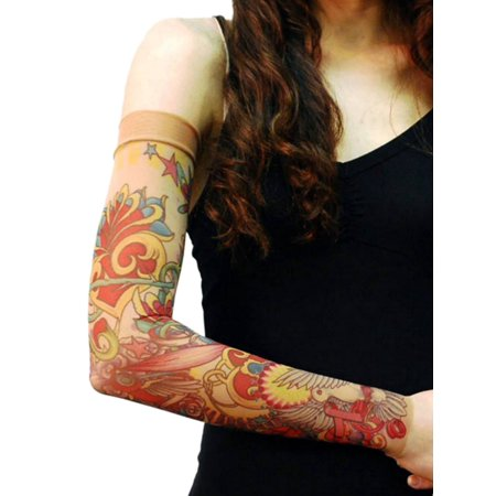 Wild Rose Unisex Single Tattoo Mesh Sleeve, Pink Ribbon Bright, Tan (Ms Ribbon Tattoo)