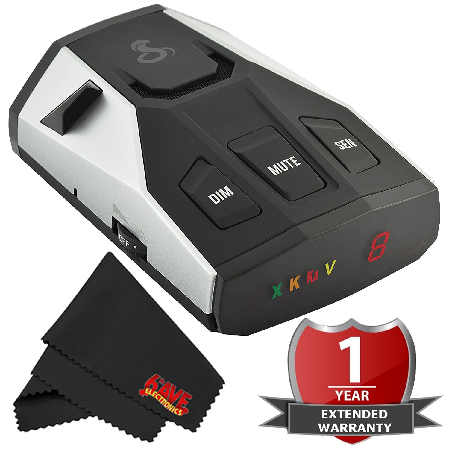 Buy Cobra Electronics 0180005-1 Cobra RAD 400 Radar Detector with 2 Year Warranty by Cobra Electronics