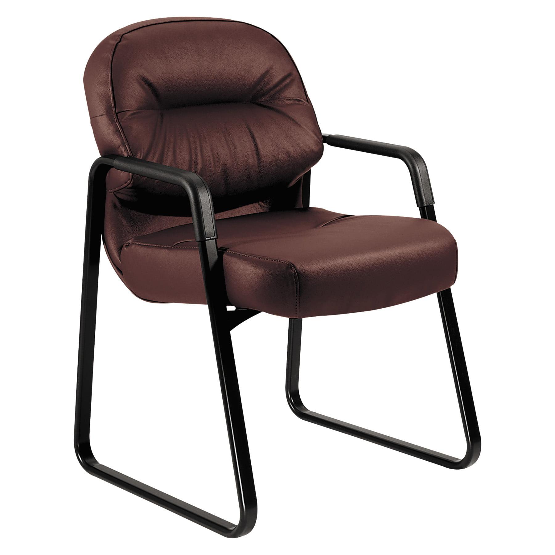 HON, HON2093SR11T, Pillow-Soft Guest Chair, Leather, 1 Each