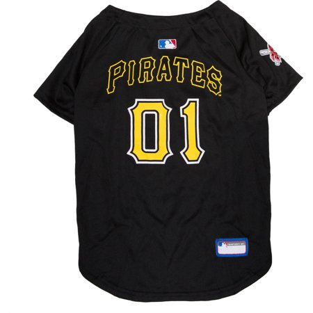 Pirate Skull Baseball Jersey - Pets First MLB Pittsburgh Pirates Dog Jersey, XX Large