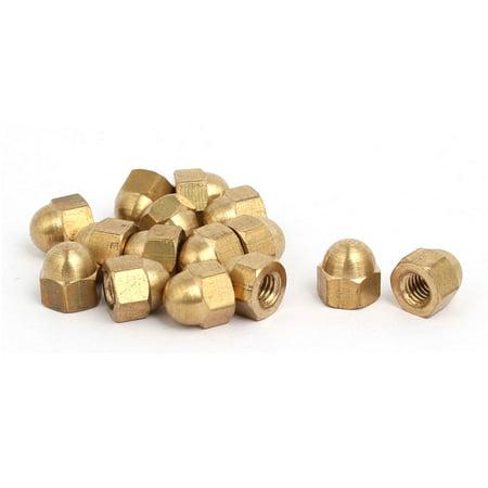 15pcs M4 Female Thread Nut DIN1587 Dome Cap Head Hex Brass
