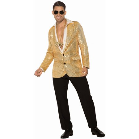 Halloween Gold Sequin Blazer Adult Costume