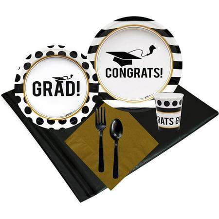 Graduation Party 24 Party Pack (Graduation Party Tableware)