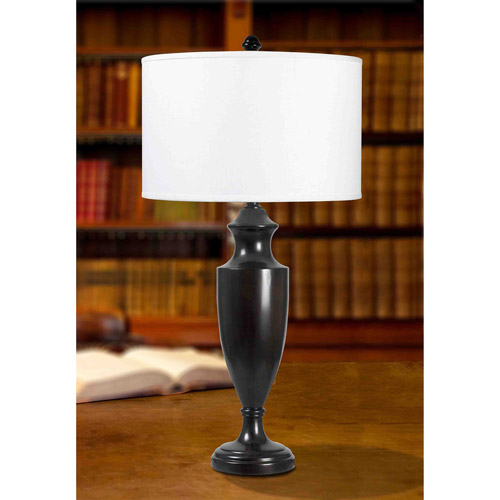 Kenroy Home Lathe Table Lamp, Madera Bronze