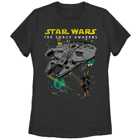 Star Wars The Force Awakens Women's Episode VII Millennium Falcon and X-Wing - Star Wars Women's Clothing