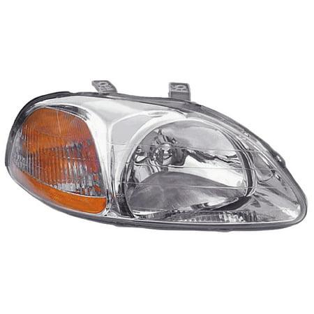 1996-1998 Honda Civic Passenger Right Side Combination Headlight Lamp Assembly