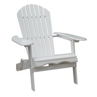 Simple Acacia Adirondack Chair, White Painted