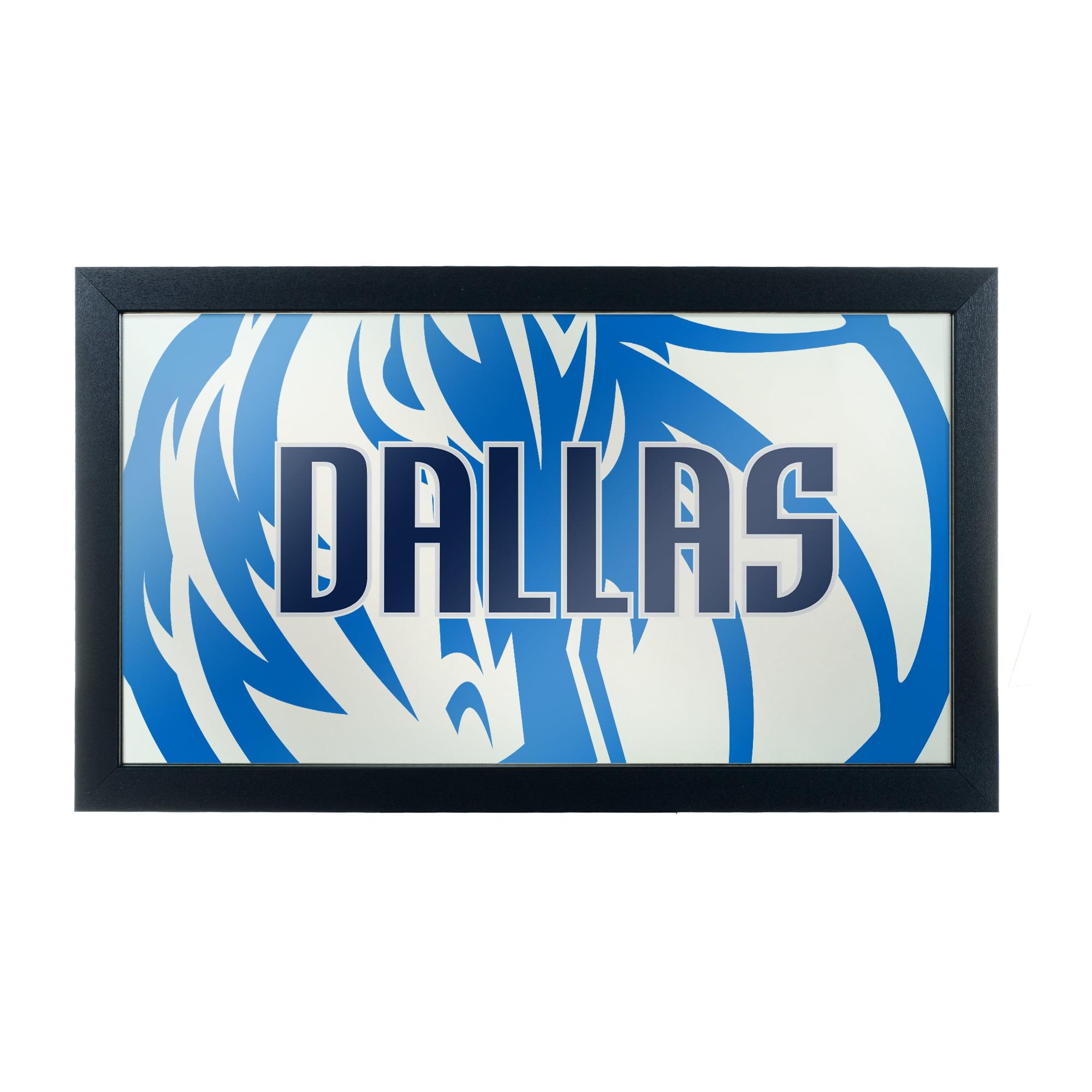 NBA Framed Logo Mirror - Fade - Dallas Mavericks
