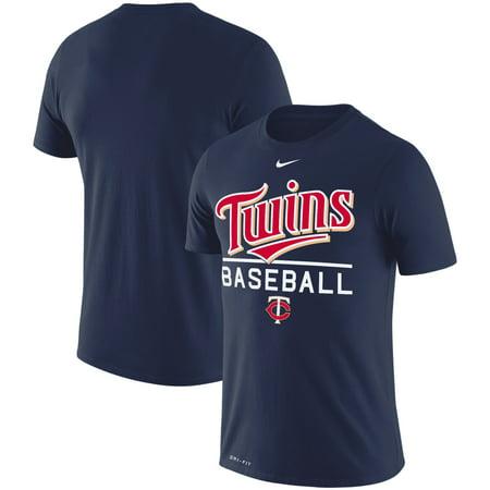 Minnesota Twins Nike Wordmark Practice Performance T-Shirt - Navy Custom Nike Golf Shirts