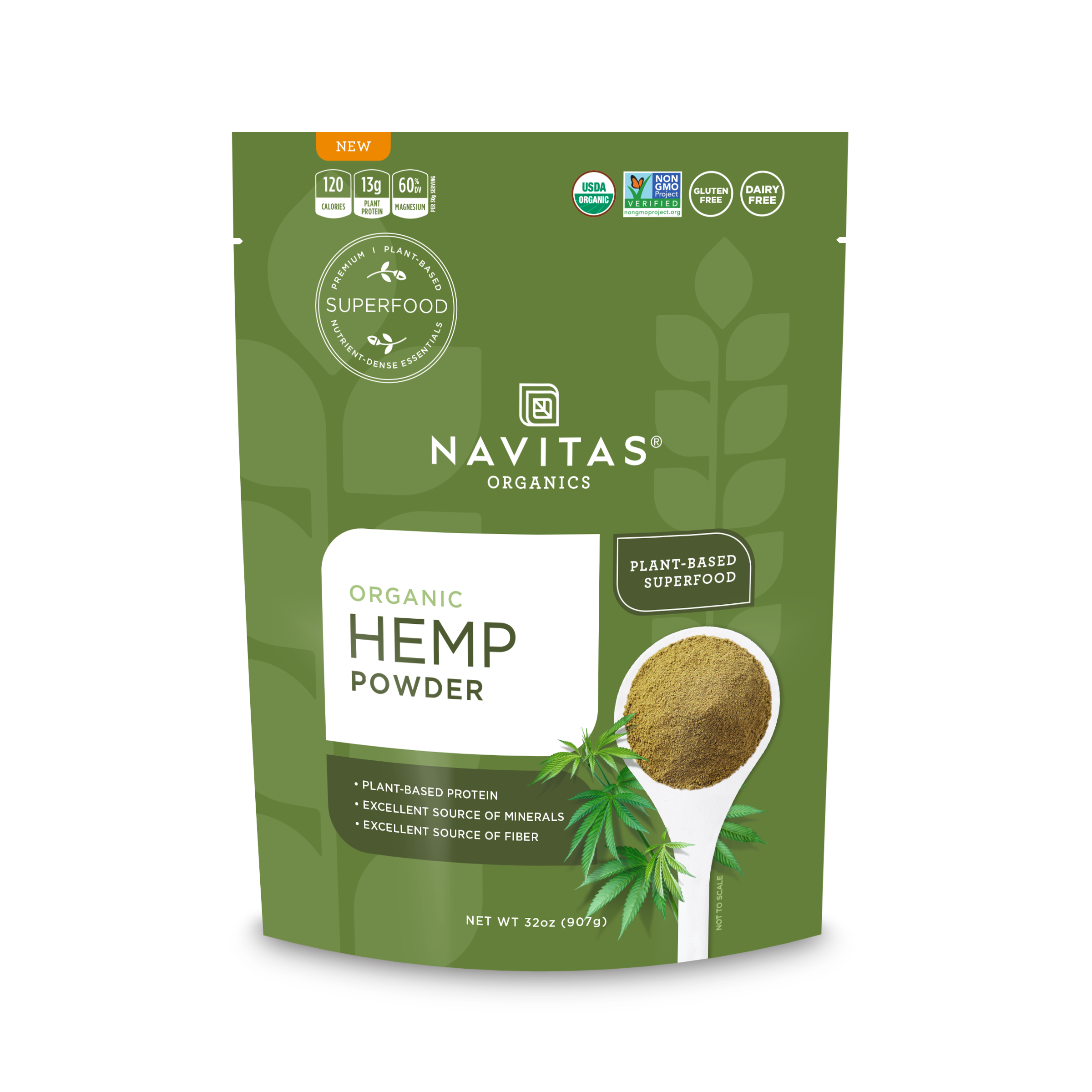 Navitas Organics Hemp Powder, 32 oz.