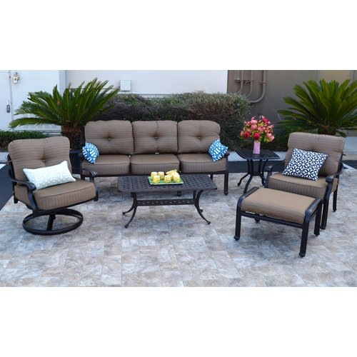 Darby Home Co Nola 6 Piece Deep Seating Group with Cushion