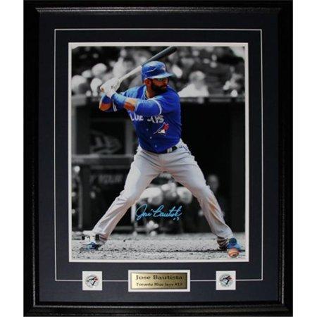 Midway Memorabilia bautista_16x20_signed Jose Bautista Toronto Blue Jays Signed 16x20 Frame by