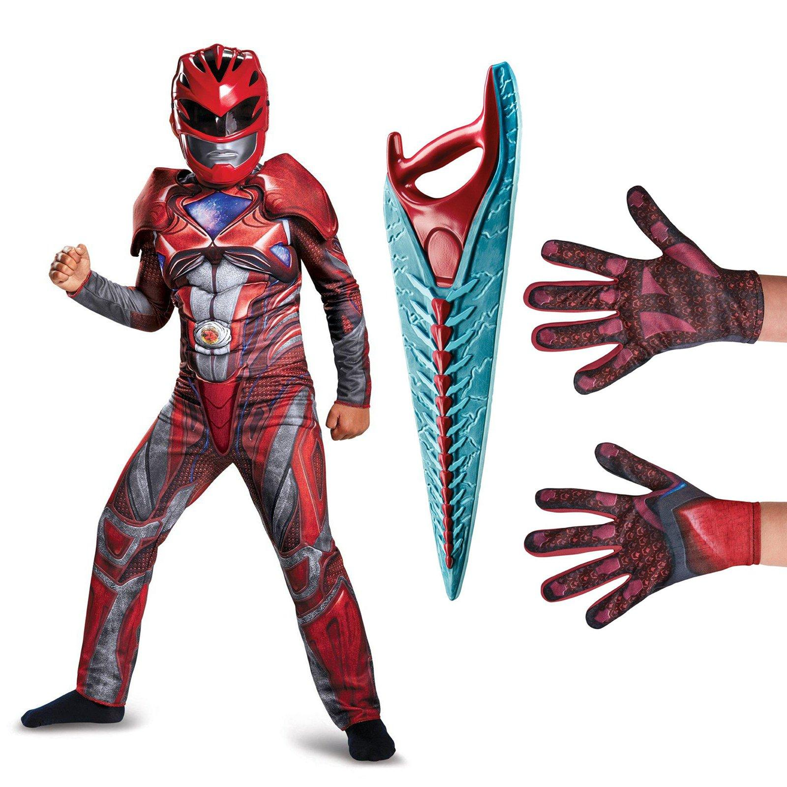 Power Rangers Movie Red Ranger Children's Classic Muscle Costume Kit by DISG