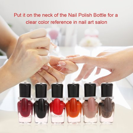 50pcs/pack Nail Polish Art Display Tips Color Ring for Nail Polish UV Gel Bottle Top Clip Palette Manicure Salon Tools - image 6 of 7