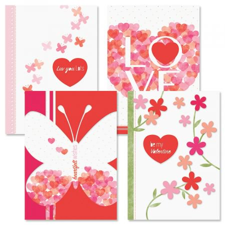 Sweet and Simple Valentine Cards - Set of 8 (4 designs) 5