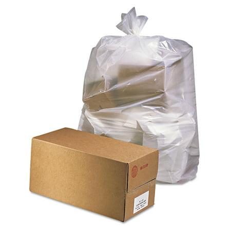 Jaguar Plastics Industrial Drum Liners, 38 x 65, 60gal, 2.5mil, Clear, 50 Bags/Roll, 1 Rolls/CT