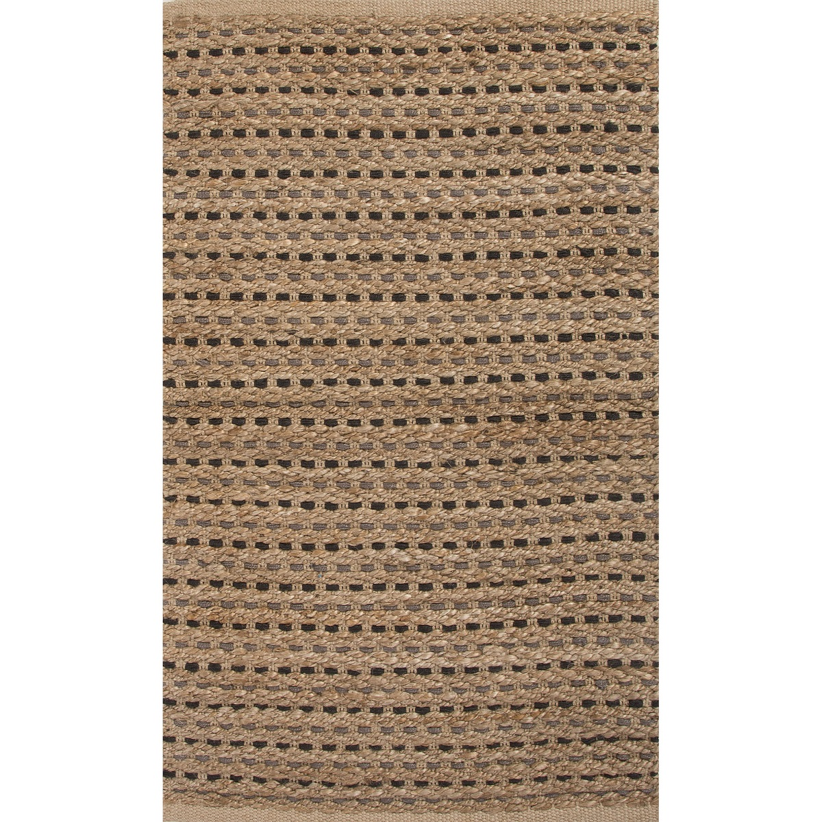2' x 3.33' Wheat Tan and Gray Yarm Jute Accent Throw Rug