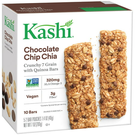 Kashi Crunchy Granola Chia Bar, Chocolate Chip, 0.7 Oz, 10