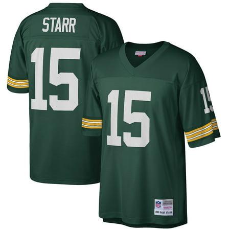 e2a6b0d3b Bart Starr Green Bay Packers Mitchell & Ness Retired Player Vintage Replica  Jersey - Green - Walmart.com