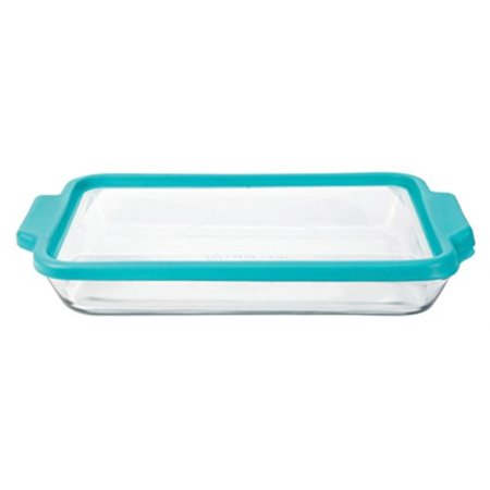 Anchor Hocking 3 Quart Gl Baking Dish With Teal Truefit Lid