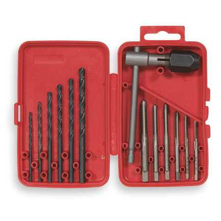 VERMONT AMERICAN 21698 Tap and Drill Bit Set, Electrician, 13 Pcs