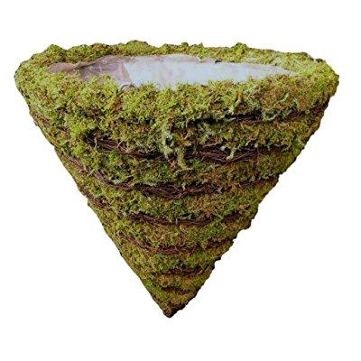 Attrayant ... Tierra Garden 60 10976 Natural Striped Moss And Twig Cone Planter  Hanging Basket, 16