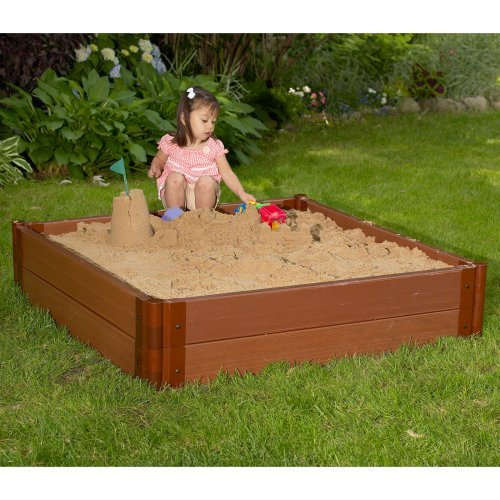 Frame-It-All 4 x 4-ft. Sandbox with Optional Cover