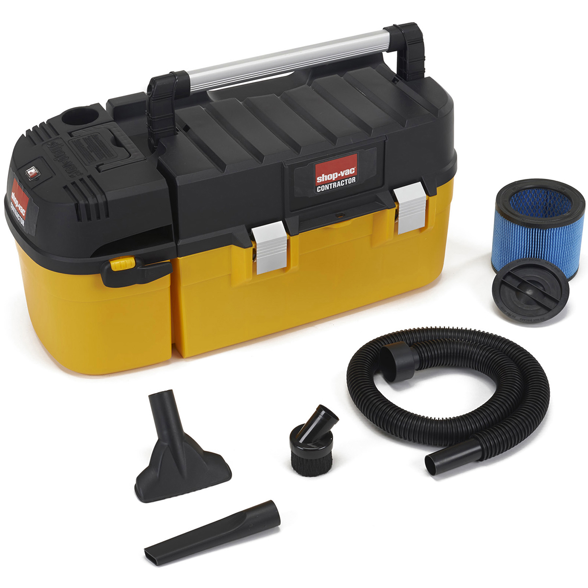Shop Vac 3880210 2.5 Gallon 2.5 HP Wet & Dry Vac With Removable Toolbox