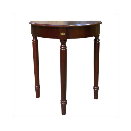 Ore International H 133 Crescent End Table   Cherry  30