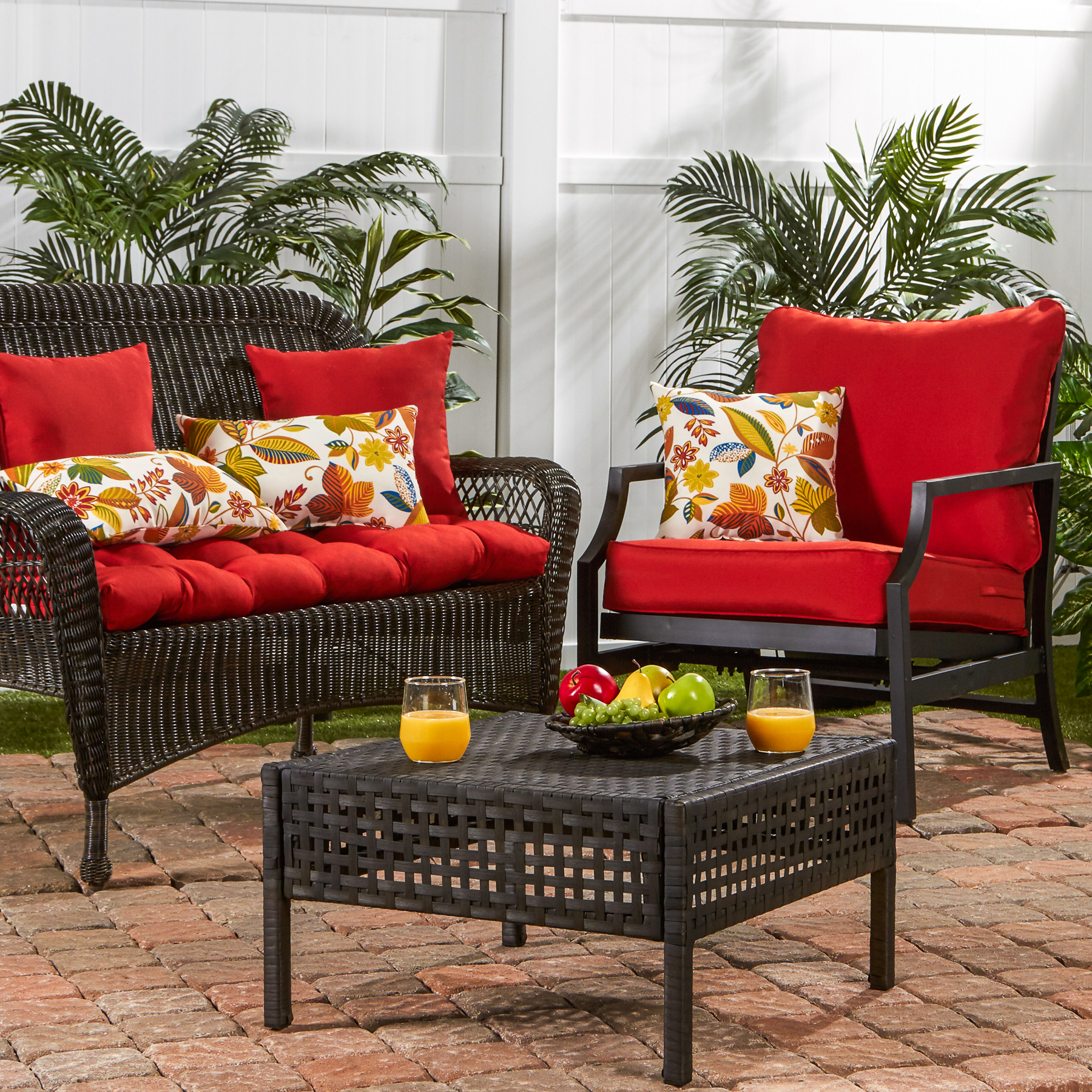 Salsa Greendale Home Fashions Outdoor Seat//Back Chair Cushion set of 2
