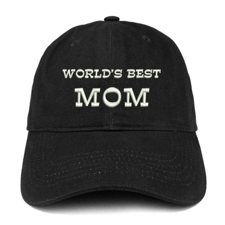 Trendy Apparel Shop World's Best Mom Embroidered Low Profile Soft Cotton Baseball (Best Low Cap Stocks)