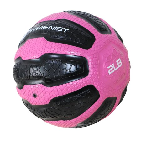 GYMENIST Rubber Medicine Ball with Textured Grip, Available in 9 Sizes, 2-20 LB, Weighted Fitness Balls,Improves Balance and Flexibility
