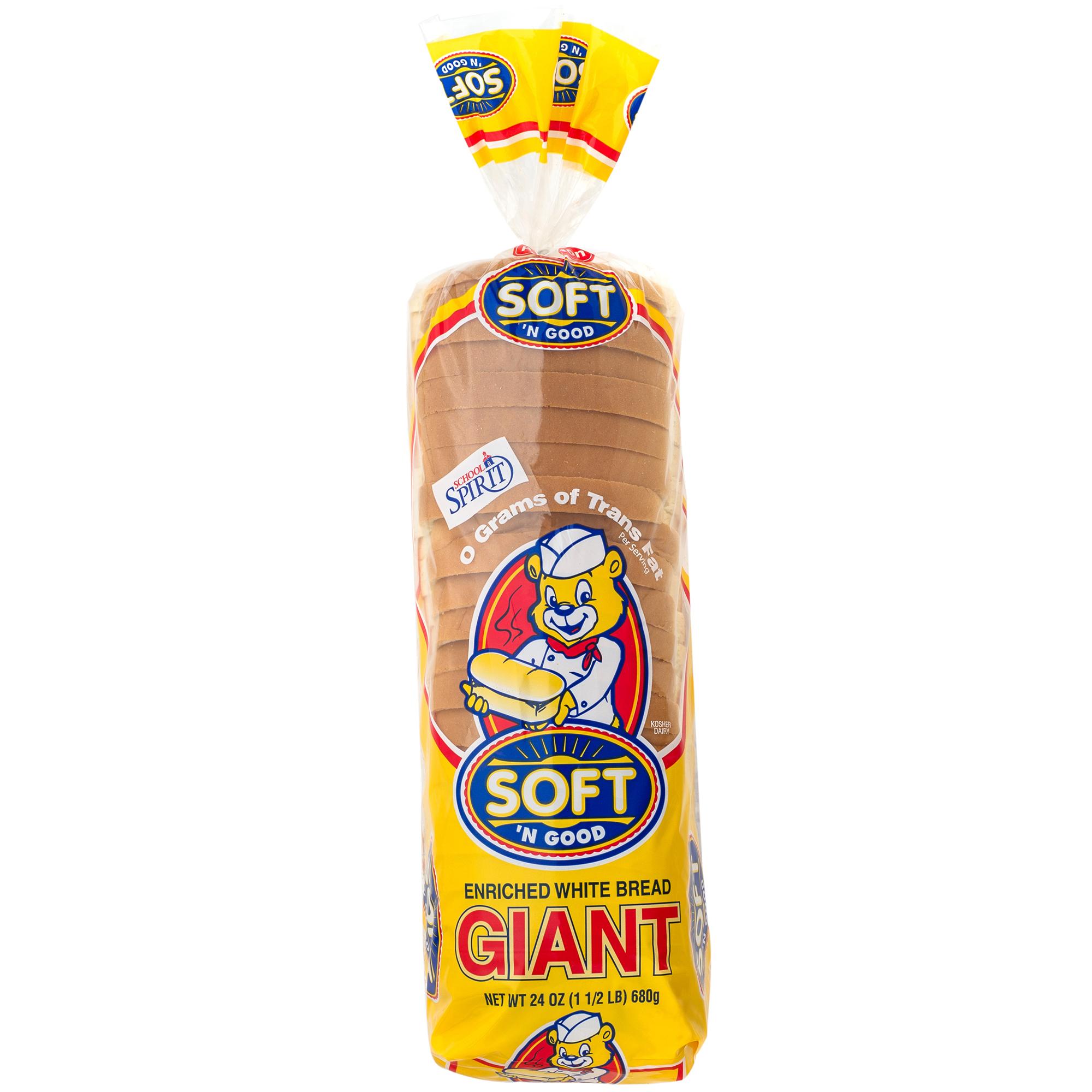 Soft 'N Good Giant White Bread, 24 oz.