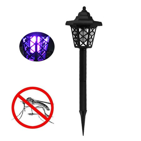 Solar Powered Mosquito (Iuhan Solar Powered LED Light Mosquito Pest Bug Zapper Insect Killer Lamp Garden )