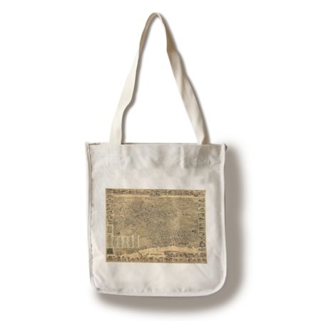 Elizabeth, New Jersey - Panoramic Map (100% Cotton Tote Bag - Reusable)