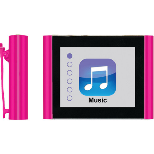 "Eclipse Fit Clip Plus 8GB 1.8"" MP3 + Video Player, Pink"
