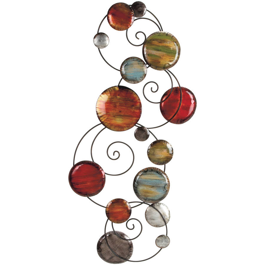Decmode Metal Wall Decor, Multi Color by DecMode