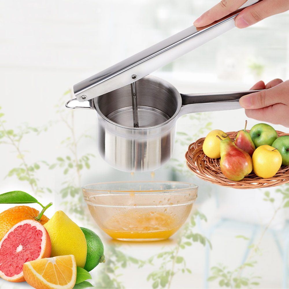 Anself Stainless Steel Potato Masher Vegetable Ricer Puree Fruit Maker Juice Presser Squeezer Mashed Potato Maker