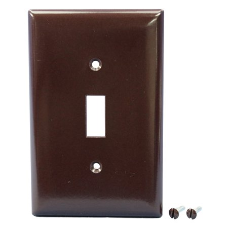 Pass and Seymour Legrand SPJ1 Brown Junior-Jumbo Flush-Mount 1-Gang Toggle Switch Cover Wallplate