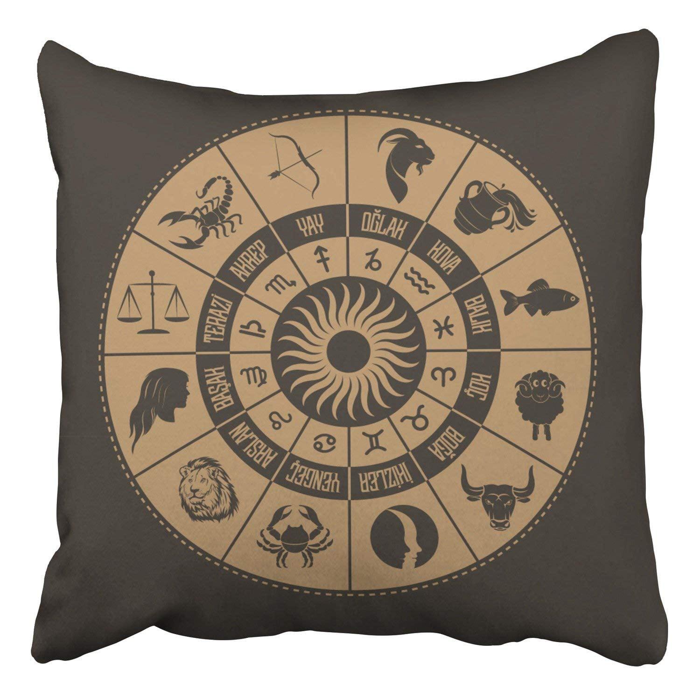 Bosdeco Astrological Signs Drawing Zodiac Symbols Turkish Writing Pillowcase Cover Cushion 16x16 Inch Walmart Canada