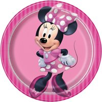 Minnie Mouse Paper Dessert Plates, 7in, 24ct