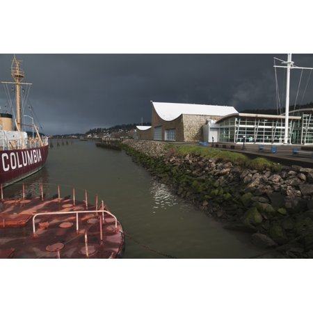 The Columbia River Maritime Museum Sits On The Banks Of The Columbia River Astoria Oregon United States Of America Poster Print By Robert L Potts  Design Pics