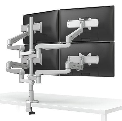 ESI Ergo EVOLVE4-FMS-SLV Quad Monitor Arms