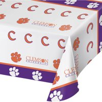 Clemson University Plastic Tablecloth, each