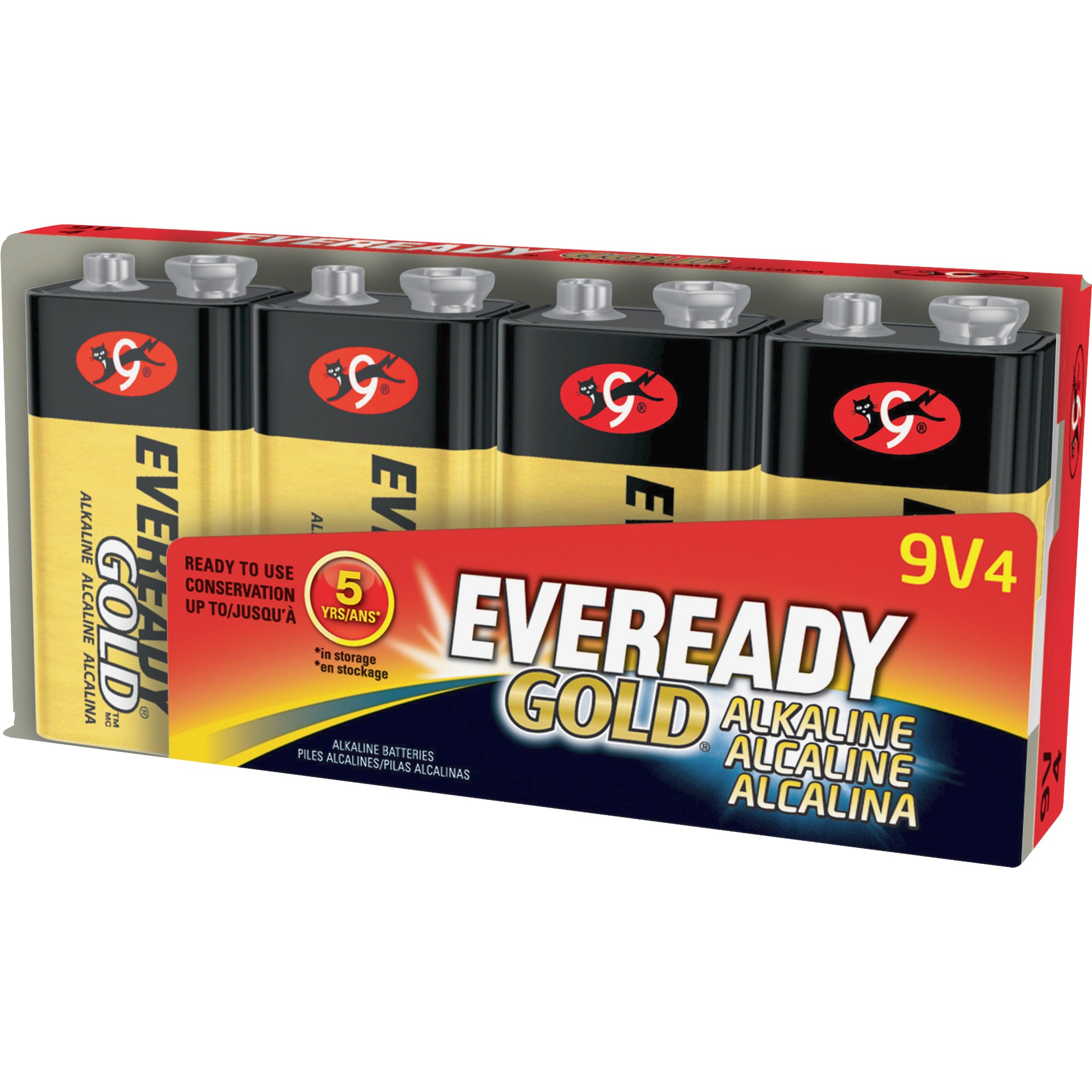 EVEREADY GOLD 9V Batteries, 4 Count